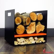 small 32cm modern firewood log basket carrier for woodstove