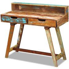 Reclaimed Wood Vanity Table Solid Wood Dressing Tables Ebay