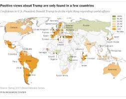 9 charts on how the world sees president trump pew research center