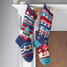 Homemade Christmas Stockings by Hand Knitted Christmas Stocking By Chunkichilli