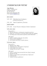 Resume Format For Job by Cv Sample For Dubai