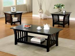 Decorating Ideas For Coffee Tables Beautiful Black Coffee Table And End Tables For Your Simple Home