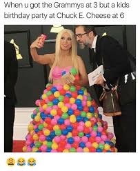 Kids Birthday Meme - when u got the grammys at 3 but a kids birthday party at chuck e
