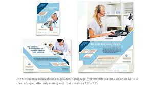 one page brochure template word half page template word template