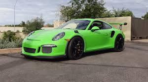 Green Paint 2016 Porsche 911 Gt3 Rs In Green Paint U0026 Engine Sound On My Car