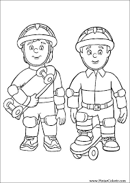 drawings paint u0026 colour fireman sam print design 006