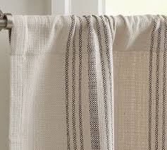 Pottery Barn Linen Curtains French Stripe Cafe Curtain Potterybarn For The Home Pinterest