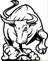 printable bulls schedule coloring pages of bulls 37 bull coloring page bucking bulls