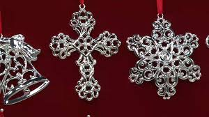 lenox set of 8 silver plated ornaments with gift boxes on qvc