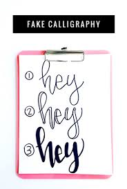 how to learn hand lettering u0026 fake calligraphy fake calligraphy