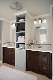 Bathroom Cabinet With Built In Laundry Hamper Like The Tiles Colors And Built In Laundry Hamper More Than