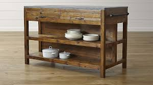 island for a kitchen bluestone reclaimed wood large kitchen island reviews crate and