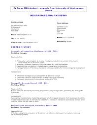 simple curriculum vitae for student new graduate nursing resume exles resources nurse cover letter