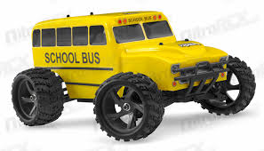 iron track electric yellow bus 1 18 4wd truck ready run rc