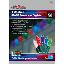 multi function christmas lights w11m1076 showtime 8 function 150ct mini led christmas