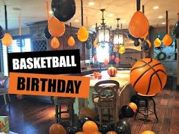 basketball party table decorations decorating for basketball birthday party youtube