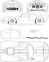 Free Blueprints 1967 Ford Mirage Coupe Blueprints Free Outlines