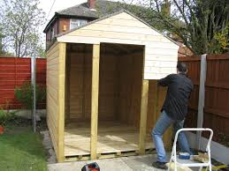 Free Plans For Building A Wood Shed by How To Build A Shed On Skids Shed Blueprints