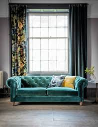 Velvet Chesterfield Sofa By Rose  Grey - Chesterfield sofa uk