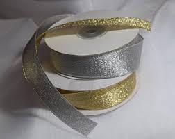 metallic ribbon metallic ribbon etsy