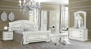 Ebay Furniture Bedroom Sets Versace Aida Design Italian 6 Item Bedroom Set In White Silver Ebay