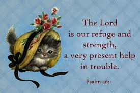 free printable christian message cards the lord is our refuge