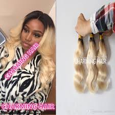 ombre hair weave african american dark root malaysian ombre hair 1b platinum blonde human hair body
