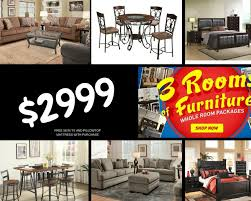 living room packages with free tv 3 rooms of furniture for 2999 exclusive furniture