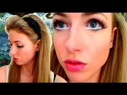 alice wonderland halloween makeup u0026 hair tutorial