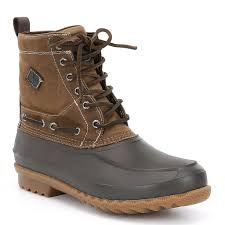 s boots waterproof sperry s decoy waxed canvas waterproof boot in country