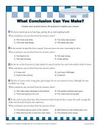 drawing conclusions worksheets drawing a conclusion worksheets 5th