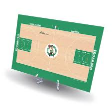 celtics replica basketball court display