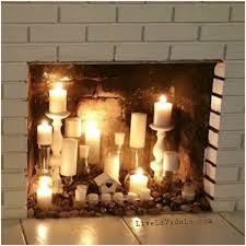 rustic faux fireplace candle display livin u0027 la vida lo living