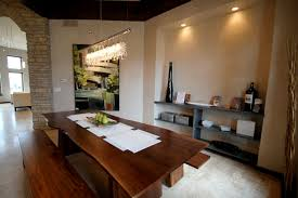 Linear Chandelier Dining Room A Linear Chandelier Dining Room Design Rooms Decor And Ideas