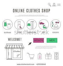 design online clothes online clothes accessories shop web design stock vector 420550648