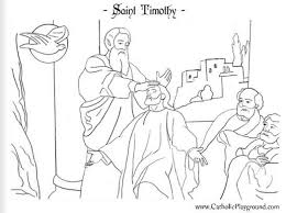 saint timothy coloring page days food for feast and 578416
