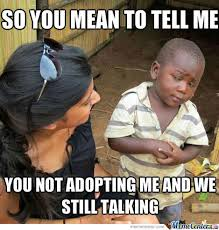 Adoption Meme - adoption by recyclebin meme center