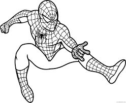 spiderman coloring pages stick to the wall coloring4free