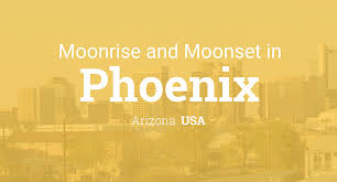Arizona Time Zone Map by Moonrise Moonset And Moon Phase In Phoenix