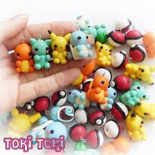 pokemon polymer clay charms cute kawaii by madebytokitoki on