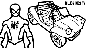 color offroad car w spiderman coloring pages for kids coloring