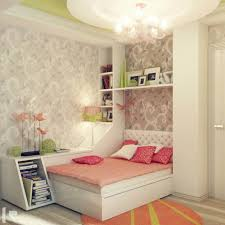 Vanity Ideas For Small Bedrooms by Purple Bed With White Wooden Shelves And Black Storage On Green