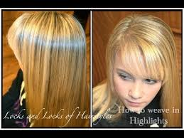 highlighting fine hair how to weave highlights into hair youtube
