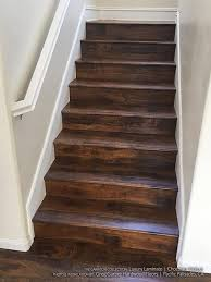 Installing Laminate Flooring On Stairs Chocolate Walnut Laminate Flooring Hardwood Flooring Stairs
