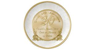 personalized anniversary plate happy 20th anniversary gifts personalized plate zazzle