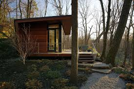 a modern studio retreat in the woods workshop apd small house