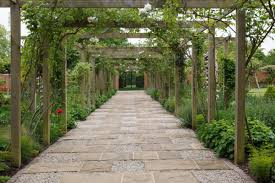 Pergola Ideas Uk by Rustic Pergola Framed York Stone Walkway Randle Siddeley