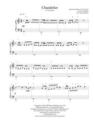Download Chandelier By Sia Download Chandelier For Easy Piano Sheet Music By Sia Sheet