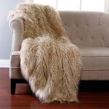 Faux Fur Blanket Queen Decorating Rectangular Grey Faux Sheepskin Rug For Floor