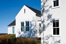 berkshire farmhouse double hung windows exterior side yard